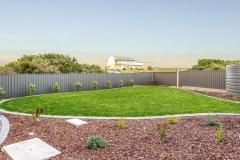 flat view of backyard landscaping in middelton