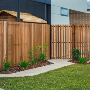 Wooden Slat Fencing, Fencing Contractors, Fence, Turf, Landscaping, Landscapers, Landscaping Designs, Garden Designs, Paving Contractors, Concrete paths, Victor Harbor, Fleurieu