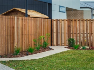 Wooden Slat Fencing, Fencing Contractors, Fence, Turf, Landscaping, Landscapers, Landscaping Designs, Garden Designs, Paving Contractors, Concrete paths, Victor Harbor, Fleurieu
